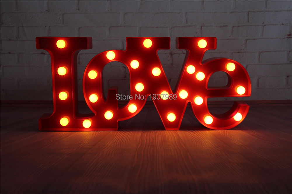 love red led marquee sign light up vintage adhesive letter love shape plastic light valentines day indoor deration in night lights from lights lighting