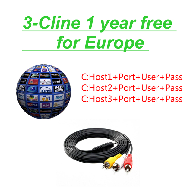 FREESAT V7 and 1 year Europe Cccam 3 lines Spain Germany UK French Polsat NL Channels Satellite receiver set top BOX