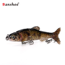 Banshee 100mm 10g Fishing Lures VMJM05-4.5 Swimbait Jointed Sections Hard Artificial Bait Bass Pike Walleye Fishing Wobbler