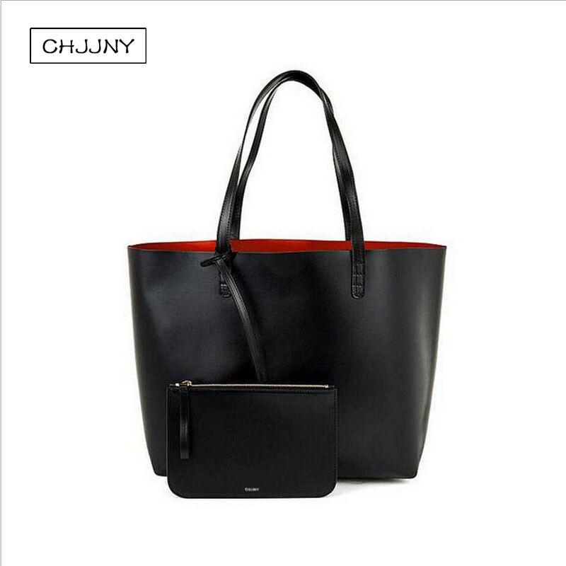 034d90f26be Mansur Gavriel vrouwen shopper grote tote schoudertas echte lederen zwarte  handtas met kleine mini purse designer