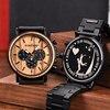 Personalized Customize Watch Men Engraved Wristwatch Wood & Stainless Steel Band Anniversary Gift Birthday Gift erkek kol saati 1