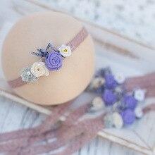 Baby Headwear Girl Flower Hairband Newborn Photography Props Infantile Photoshoot Headband