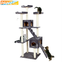 Domestic Delivery Luxury Cat Furniture Cat Jumping Toy Ladder Wood Scratching Post Climbing Tree For Cat