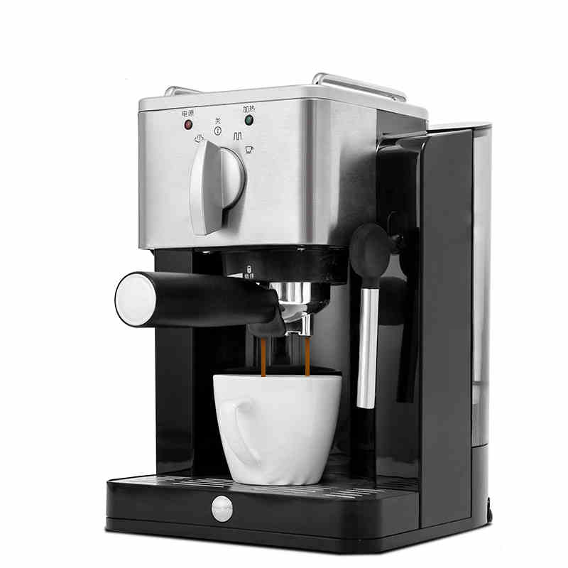 220V Semi -Automatic 15Bar Espresso Coffee Maker Steam Milk Foam Coffee Machine Stainless Steel Froth Milk For Home Office Using 220v 15bar coffee maker semi automatic espresso coffee machine rich milk bubble steam frother foam coffee boiling machine