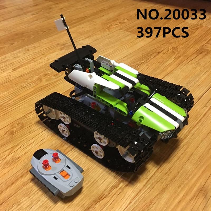 Educativos 20033, 397 piezas RC rastreado Racer Compatible 42065 Control remoto Caterpillar vehículos coche bloques de construcción ladrillos de juguete para niños