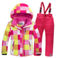 2016 children ski suit set thickening waterproof teenage girl boy cold-proof outdoor clothes windproof winter suits for kids
