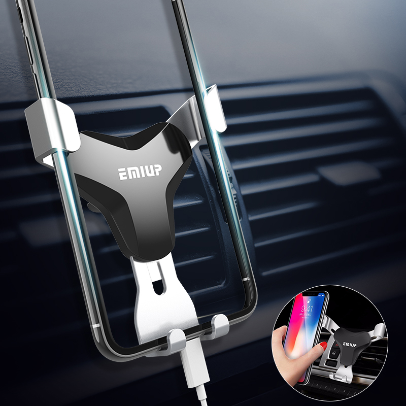 Car Phone Holder Universal Air Vent Mount Clip Cell Holder For Phone In Car No Magnetic Mobile Phone Stand Holder Smartphone(China)