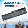 6 cell 4400 mah pa3635 pa3634 batería del ordenador portátil para toshiba satellite a665d c640 c640d c645d c650 c655 c660 c655d c660d