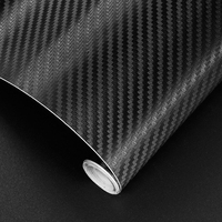 50CM Width 3D Carbon Fiber Vinyl Film Car Stickers Waterproof Car Styling Wrap Carbon Fiber Auto