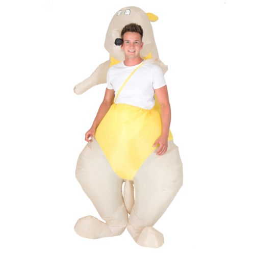 Unisex Funny inflatable Costume Kangaroo Fancy Dress Costume  for adult blow up costume  Halloween Purim Carnival party