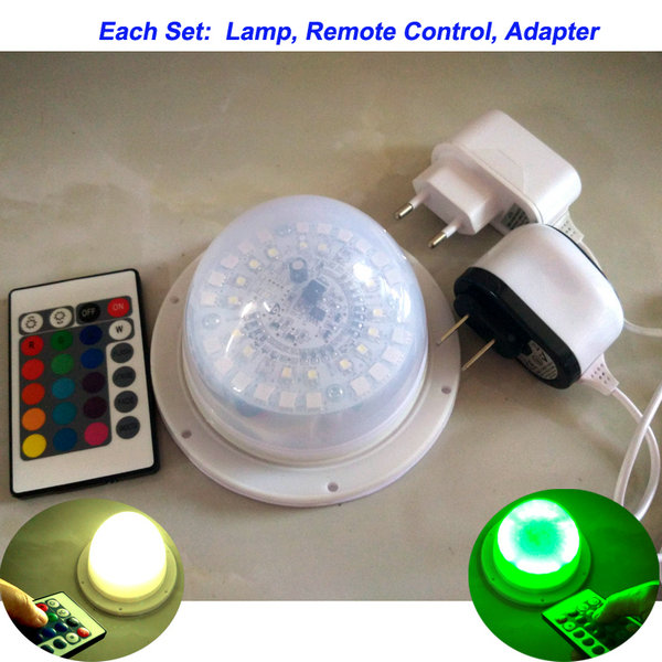 50 PCS New Best Quality Waterproof Outdoor IR Remote Control Wireless Led Light System Base For Cube Bar Vase Ball
