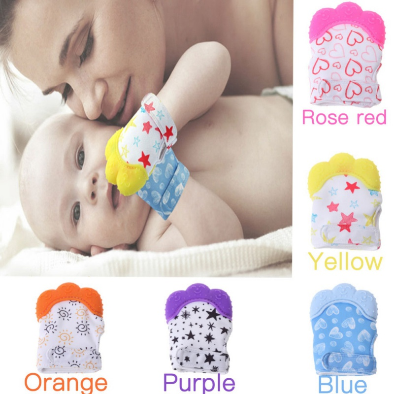 Silicone Baby Teething Toy Feather Shape Baby Teether Chew Toy 6L