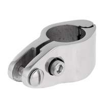 Heavy Duty Boat Bimini Top Fitting Hinged Jaw Slide Cover Bar Tube Knuckle Clamp for 7/8 Tube/Pipe - 316 Stainless Steel