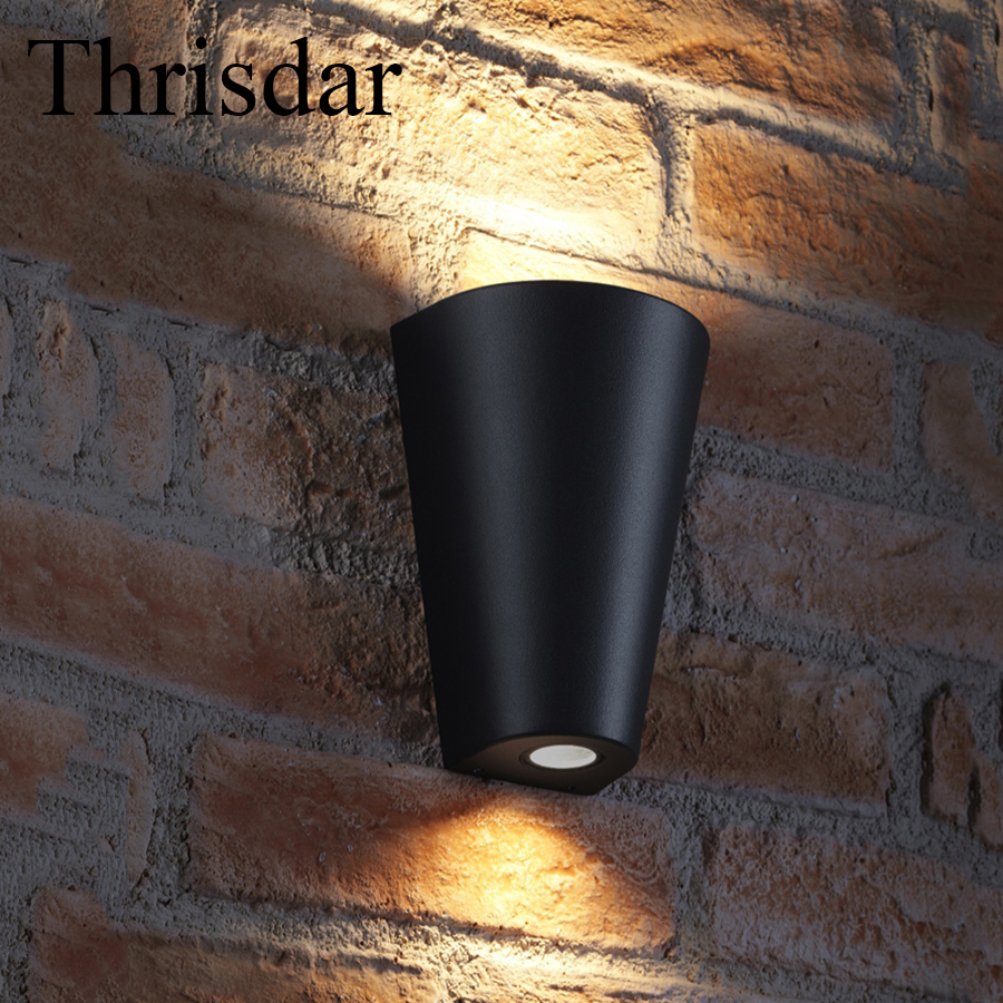 Thrisdar 5W 10W Outdoor Lighting Waterproof Modern LED Wall Lamp Up Down Lighting Surface Mounted Villa Porch Patio Garden Light