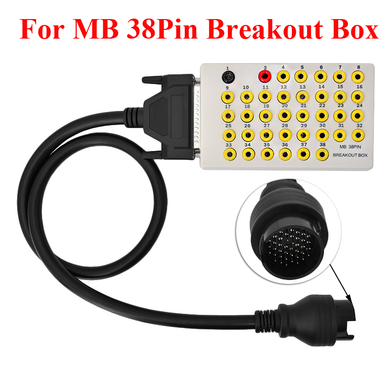 Top quality for MB 38pin breakout box auto connector pin out box car 38 pin break out box car tool eglo connector box 91207