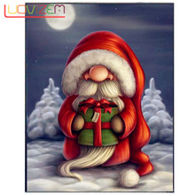 Diy Diamond Embroidery Santa Claus Painting Christmas Party  Full Square Drill /Round Cartoon Picture Of Rhin