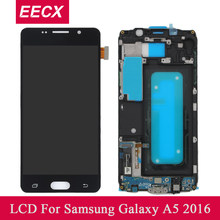 A510 LCD For Samsung Galaxy A5 2016 LCD A510 A510F LCD A510M Display Touch Screen Digitizer w/ Frame Tools Tempered glass film(China)