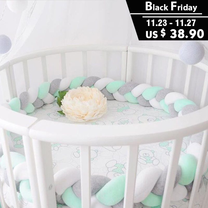 2M Classic Baby Bedding Bumper Knot Design Newborn Protection Cot Bumpers SOFT