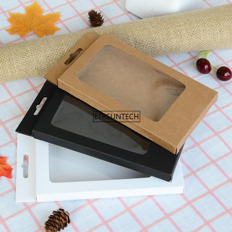 500 sztuk! uniwersalny etui na telefon komórkowy pakiet papieru Kraft brązowy opakowania do sprzedaży detalicznej dla iphone 7 P/6SP/8 P dla samsung 170*100*15mm w Torby na prezenty i przybory do pakowania od Dom i ogród na  Grupa 1