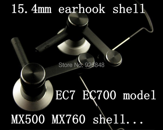 EC7 EC700 models hanging ear shell sports earhook 15.4mm unit ear shell