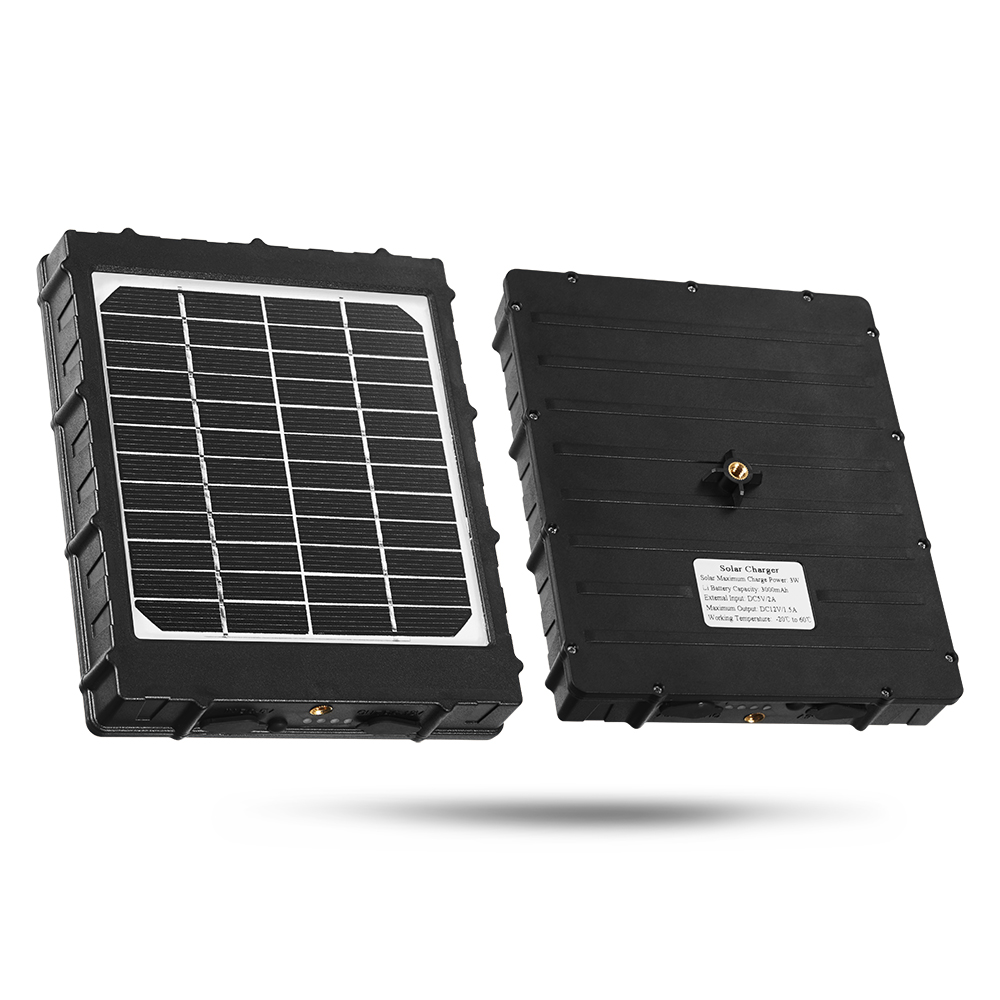 4G Hunting Camera Solar Panel For Photo Traps External Battery Solar Charger 3000mAh Aluminum Battery Polymer Solar Power Supply (5)