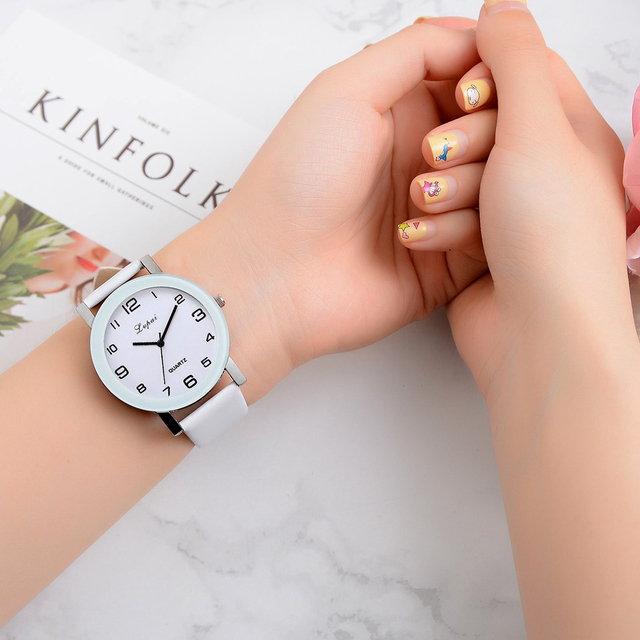 Brand Quartz Watches For Women Luxury White Bracelet