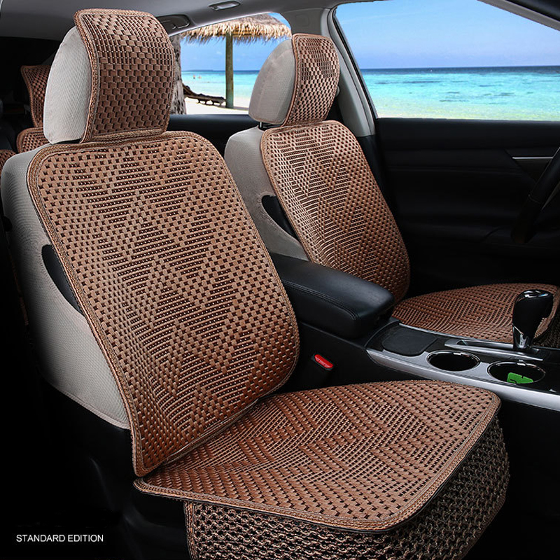 Universal Car Seat Cover Ice Silk Seat Cushion Four Seasons Fit Most Vehicles Seat Covers Car Accessories kkysyelva universal leather car seat cover set for toyota skoda auto driver seat cushion interior accessories