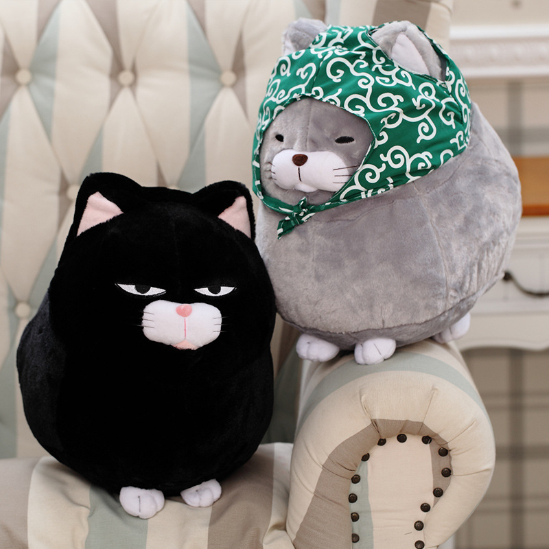 Toys for children Kawaii amuse Cats peluche toy Cute plush cat stuffed toy soft plush pussycat chat kids Christmas gift 40 30cm plush toys stuffed animal doll toy pusheen cat kawaii cute cushion brinquedos peluche wj363