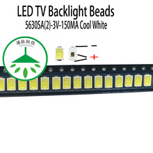 100pcs/lot new led 5630sa(2) 3v 150ma lamp beads cool white for repair lcd tv backlight light bar chip hot