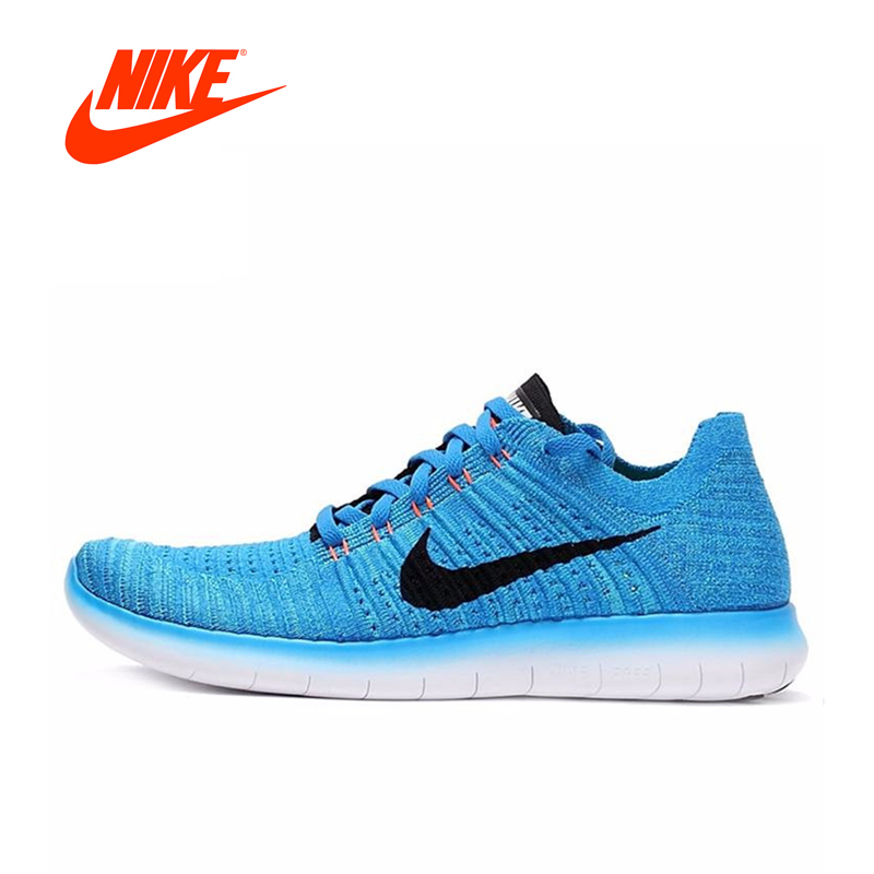 Original New Arrival Official NIKE FREE RN FLYKNIT Mens Running Shoes Breathable Sneakers Outdoor Walking Jogging Athletic