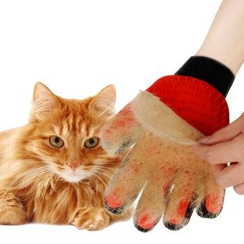 Kualitas Nyaman Hewan Peliharaan Perawatan Sikat Sarung Tangan untuk Kucing Rambut Sisir Pet Mandi Sikat Pembersih Alat Pijat