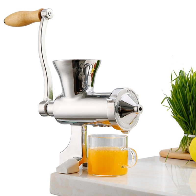 Stainless Steel Wheatgrass Juicer Multifunctional Rotatory Manual Fruit Vegetable Manual Juicer Ginger Pomegranate Press Juicer free shipping good quality wheatgrass juicer fruit juicer