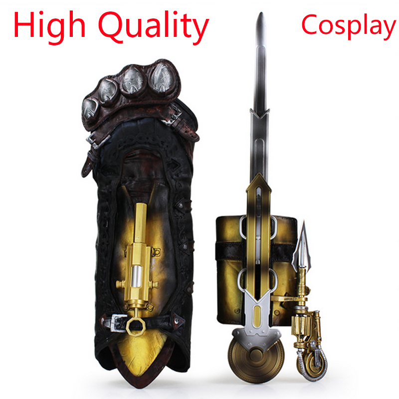 New Assassins Creed Hidden Blade Syndicate Gauntlet Brinquedos Edward Kenway Juguetes blade PVC Figure Model Kids Toys hot new assassins creed syndicate 1 to 1 pirate hidden blade edward kenway cosplay new in box toy