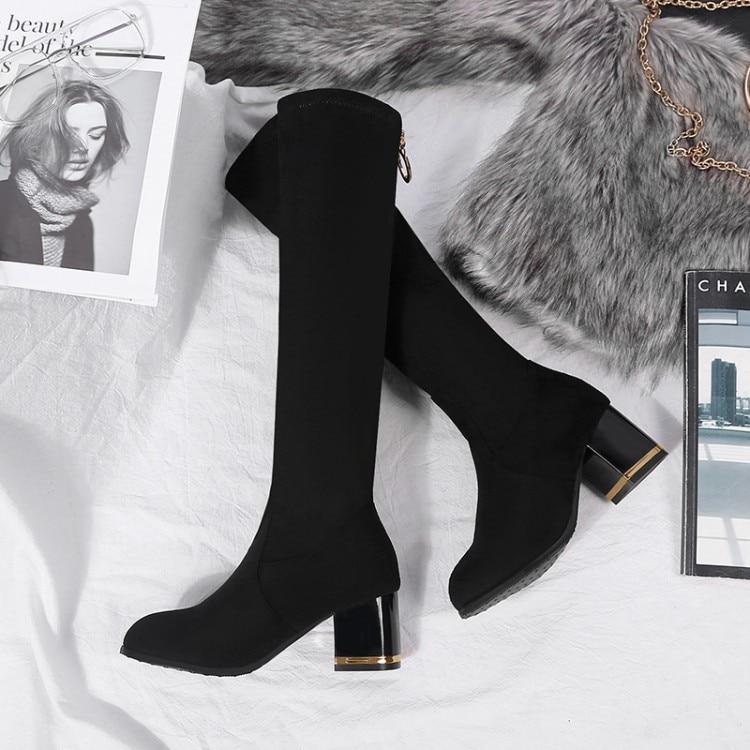 Dames Fille Talons Tailles Chaussures Bottes Jeune Femme À Grandes Pour D'hiver Montantes Hauts UGLVqzMpS