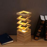 Criativo moderno candeeiros de mesa madeira leitura estudo sala criança lâmpada cabeceira quarto iluminação decorativa 3 w conduziu a luz da mesa Luzes de pendentes     -