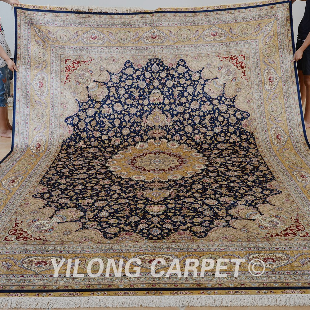 Yilong 9u0027x12u0027 Traditional Persian Handmade Rug Vantage Large Area Carpet  Cheap (0328