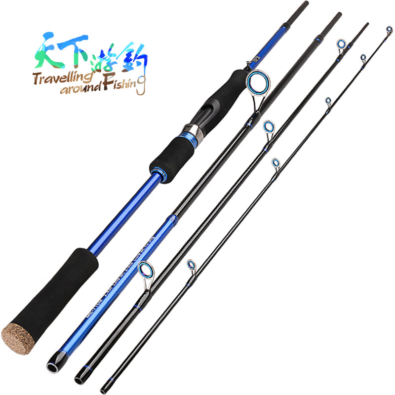 4 Sectie Spinhengel 2.1 m 2.4 m 2.7 m Medium Vara Koolstofvezel Canne een Peche Telescopicas De Pesca Vis Pole