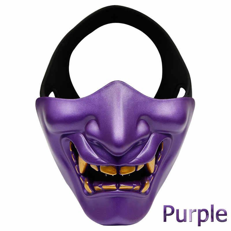 Airsoft Paintball Masker Bril Hannya Masker Halloween Masker Leger Van 2 Bb Gun Paintball Prajña Masker Jacht Accessoires Party Prop