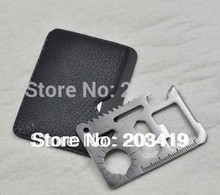 nice 6cm 11 in 1 Emergency Outdoor Multi Tool Army marine military Hunting Survival Kit Pocket Credit Card Knife whcn