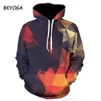 BKYOGA New Stylish Men/women 3d Sweatshirts Colorful triangular prism Painted Autumn Hoodies Drop Ship