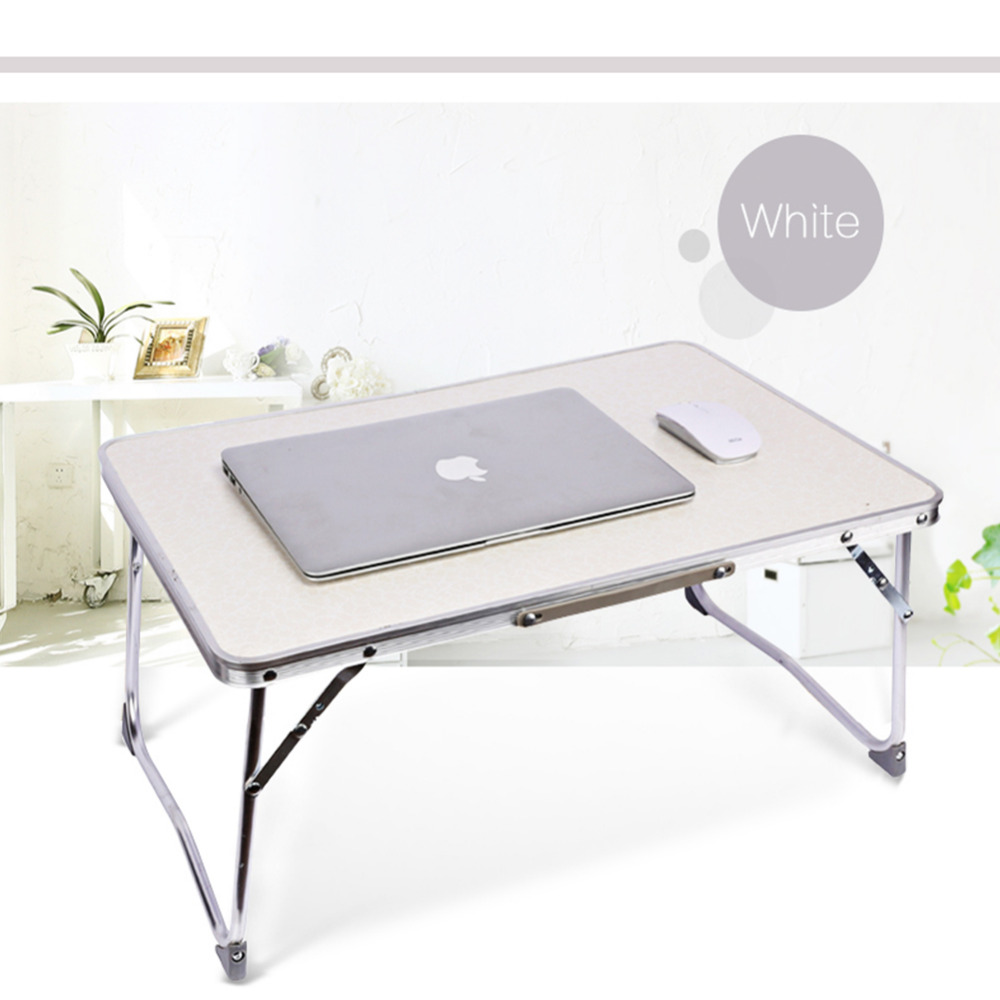 white folding computer desk light foldable table dormitory bed notebook small desk picnic table laptop