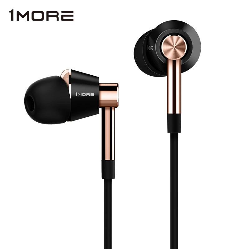 D'origine 1 Plus E1001 Triple Pilote In-Ear Écouteurs Écouteurs Auriculares avec Microphone En ligne et À Distance pour IOS iPhone xiaomi