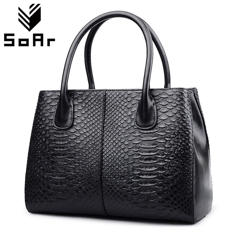 SoAr Serpentine Pattern Women Messenger Bags Designer Brand Genuine Leather Handbag Luxury Handbags Bag Shoulder Bags Ladies ladies genuine leather handbag 2018 luxury handbags women bags designer new leather handbags smile bag shoulder bag
