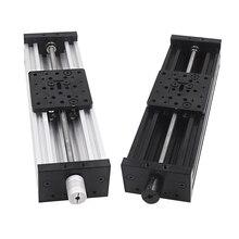 3D 프린터 Z 축 c 빔 T8 리드 스크류 OD 8mm 피치 2mm 150mm 200mm 250mm 300mm CNC 슬라이딩 테이블 선형 액추에이터 번들 키트