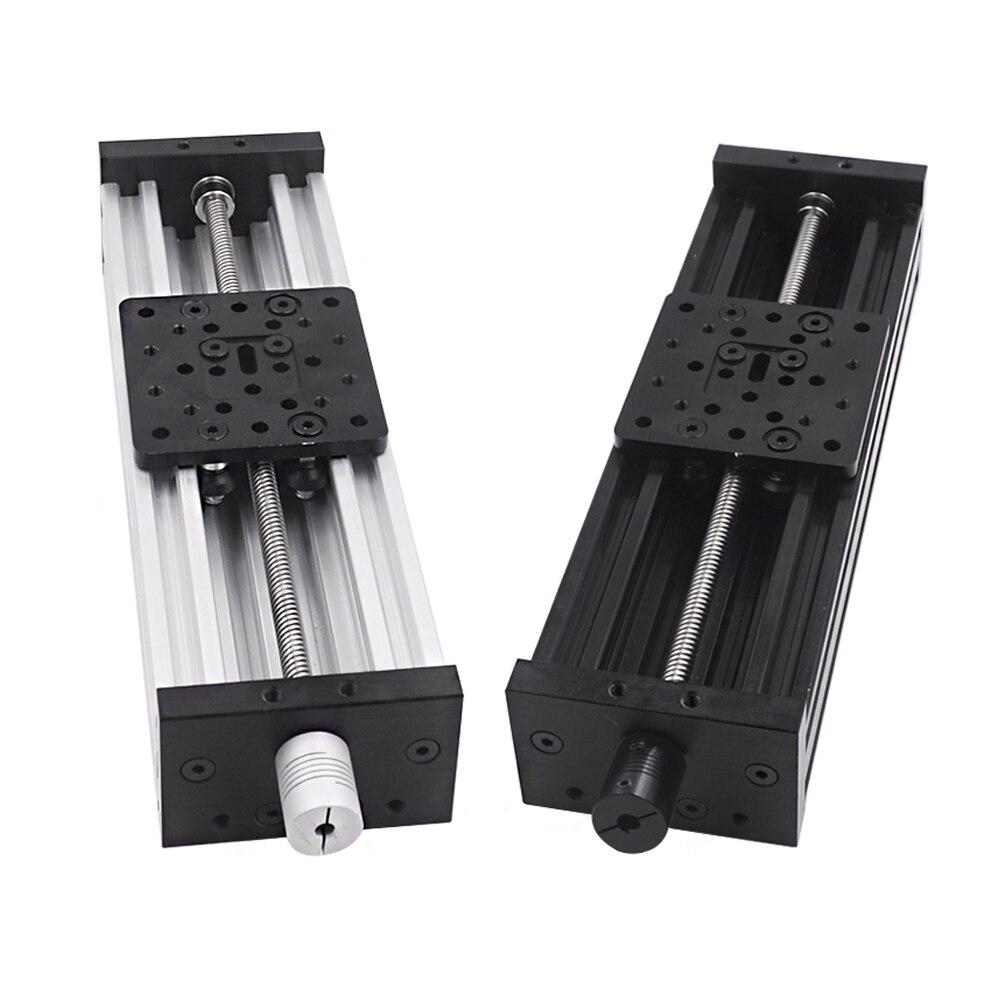 Eixo da impressora 3d z c-feixe t8 parafuso de ligação od 8mm passo 2mm 150mm 200mm 250mm 300mm cnc mesa deslizante atuador linear pacote kit