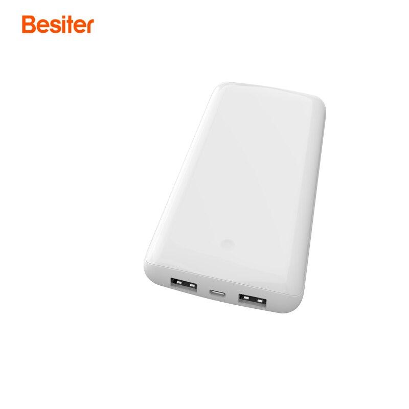 imágenes para Besiter 10000 mah Carga Rápida 3.0 para Los Teléfonos Inteligentes de Células de La Batería de Carga Del Cargador Del Banco de la Energía Externa Dos salidas USB