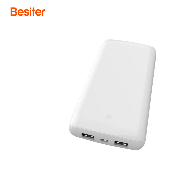 Besiter 10000mah Quick Charge 3.0 External Battery Packs for Smart Phones Battery Cell Charging Power Bank Two USB output