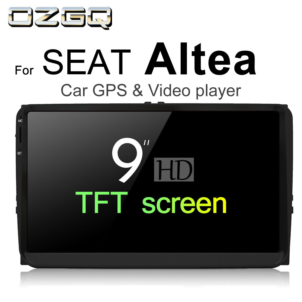 OZGQ Android 7.1 Car Player For SEAT Altea 2004~2015 HD Screen Auto GPS Navigation Bluetooth Radio TV Audio Video Music Stereo