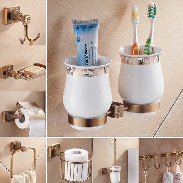 Newly Antique Bath Hardware Sets Wall Mounted Bathroom Accessory ...