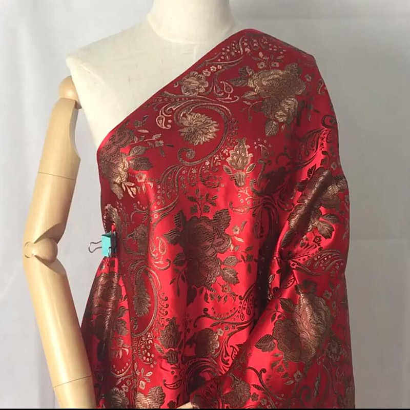 Tela de seda de imitación-Bosque De 150cm de ancho Tela de Seda Vestido Con Respaldo Slub de Satén Tela